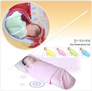 엄마 자궁속 환경과 비슷하게 해주는 유트러스 속싸개 (사진제공: 아코)