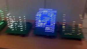 규브 LED 학생 작품 (사진제공: 소프트캠퍼스)