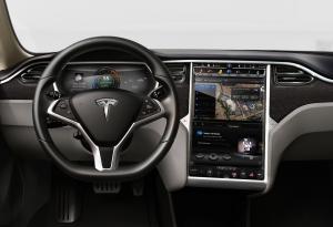 엔비디아 테그라를 탑재한 테슬라 모터스 모델 S (사진제공: 엔비디아코리아)