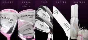 저렴한 가격에 우수한 품질을 자랑하는 투어라이드의 여성용 골프풀세트 (사진제공: 투어라이드)