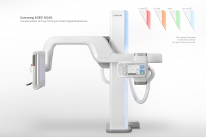 삼성전자가 '미국 산업디자이너협회(IDSA)'가 주관하는 세계 최고 권위의   디자인 공모전인 'IDEA(International Design Excellence Awards) 2012'에서   총 7개의 상을 받으며 최다 수상 기업에 선정됐다. 금상을 수상한 '디지털 X-Ray(XEGO-GU60)', 사용자와 환자에게 기기 작동상태, 촬영 과정 등의 정보를 직관적으로 전달하는 컬러 표시 시스템을  적용해 좋은 평가를 받았다. (사진제공: 삼성전자)