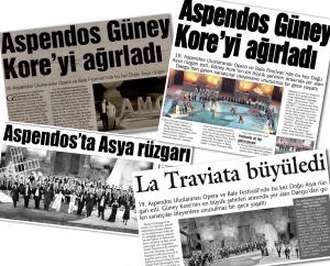 제19회 터키 아스펜도스 국제오페라&발레 페스티벌 무대에서 선보인 대구국제오페라축제의 <라 트라비아타>가 터키의 주요 신문에 대서특필됐다. (사진제공: 대구오페라하우스)