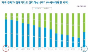 (Graph 1) Perception on the Local Economy (사진제공: 닐슨코리아)