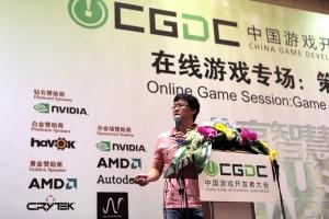 엔씨소프트의 최신 흥행작 '블레이드 & 소울'의 개발총괄 배재현 PD(프로듀서)가 중국 최대 게임 축제 차이나조이(ChinaJoy)에서 기조 연설을 성공적으로 마쳤다. (사진제공: 엔씨소프트)