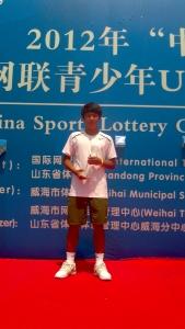 KDB금융그룹 후원 이덕희 선수, 국제 테니스 연맹(ITF) 주관 국제 대회 3회 연속 우승 (사진제공: 한국산업은행)