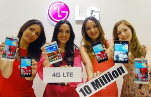 LG Electronics (LG) reports that it has sold more than 10 million LTE smartphones worldwide, a result of the company's aggressive push into 4G markets with a combination of the best hardware and advanced 4G LTE technologies.