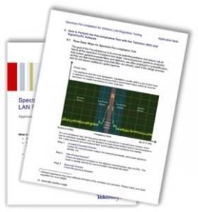 텍트로닉스가 WLAN 규격 테스트 가이드를 무료 배포한다. (사진제공: 누비콤)