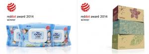 유한킴벌리 미용티슈 크리넥스 에코프렌드와 화장실용 물티슈 마이비데 키즈 제품이 레드닷 어워드(Red Dot Awards)에서 각각 Winner에 선정되었다.