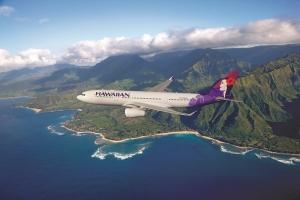 하와이안항공이 도전! 베스트 여행 일정 만들기 콘테스트의 대상 및 우수상의 주인공을 발표하고 해당상품의 판매를 시작했다. 사진은 A330-200 항공기 (사진제공: 하와이안항공)