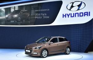 현대차는 2014 파리 모터쇼에서 신형 i20를 공개했다. (사진제공: 현대자동차)