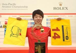 2013년 아시아-태평양 아마추어 챔피언십 우승자 이창우 선수 (Rolex/Chris Turvey)