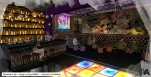 제너레이터 암스테르담의 보일러룸 바(Boiler Room Bar) (사진제공: Generator Hostels Ltd.)