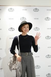 덱케(DECKE) 롯데백화점 광주점 오픈 행사에 배우 이다희가 참석하여 자리를 빛냈다. (사진제공: 한섬)