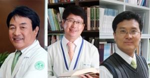 (왼쪽부터) 이대 여성암 전문병원 백남선 원장, 명문요양병원 김동석 원장, 광기술원 이병일 의료센터장.