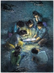 대상 수상작 손문상(프레시안)화백 희망-촛불