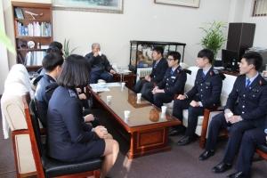 육군3사관학교, 군장학생 입대자 정용근 총장과의 만남 (사진제공: 한국관광대학교)
