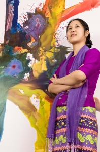 Shwe Sin Aye(소희)작가 프로필 (사진제공: 숙명여자대학교)