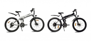 2015년형 접이식 전기자전거 테일지 T9 - 왼쪽 테일지 T9 화이트, 테일지 T9 블랙 (사진제공: 아이엠씨인터네셔널)