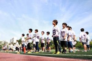 7월 11일에 개최되었던 제3회 전국 유소년플래그풋볼 대회 개회식 장면 (사진제공: 한국유소년플래그풋볼협회)
