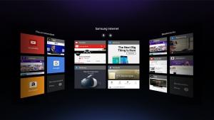 삼성전자가 가상현실 헤드셋 기어 VR에서 온라인 콘텐츠를 편리하게 이용할 수 있는 전용 웹 브라우저인 기어 VR용 삼성 인터넷의 베타 버전을 2일 공개했다 (사진제공: 삼성전자)
