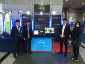 구루미가 W3C HTML5 Conference 2015 in Seoul에서 WebRTC 기술을 발표했다 왼쪽부터 이창석, 이랑혁(대표이사), 백성진, 고유정. (사진제공: 구루미)
