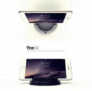 스마트폰 거치대로 재활용 가능한 테이크아웃컵 뚜껑 파인리드 (사진제공: 프로텍트엠)