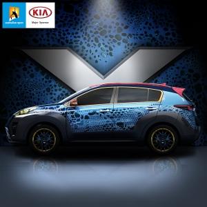 기아자동차가 이십세기폭스社와 합작하여 제작한 기아 엑스카 미스틱 모델의 이미지를 공개했다 (사진제공: 기아자동차)