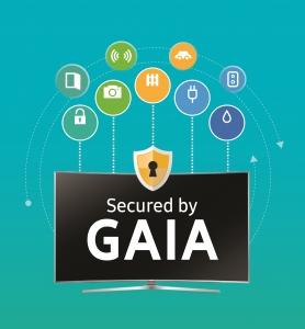 삼성전자가 타이젠 기반의 자체 스마트 TV 통합 보안 솔루션 가이아를 세계 최대 가전전시회 CES 2016에서 처음으로 선보인다 (사진제공: 삼성전자)