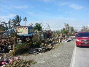 필리핀 태풍 멜로르 피해현장 (사진제공: 더블유재단)