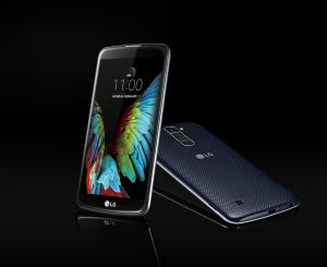 LG전자가 세계 최대 가전전시회 CES 2016에서 공개한 보급형 스마트폰 K10 (사진제공: LG전자)