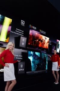 LG전자가 CES 2016에서 세계적인 영상 컨텐츠 업체들과 손잡고 다양한 HDR 영상을 시연했다 (사진제공: LG전자)