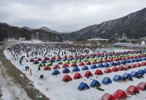 평창송어축제가 1월말까지 열린다 (사진제공: 평창송어축제위원회)
