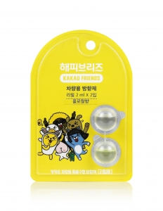 LG생활건강이 은은하고 달콤한 향이 특징인 카카오 프렌즈 차량용 방향제 리필 제품을 출시했다 (사진제공: LG생활건강)