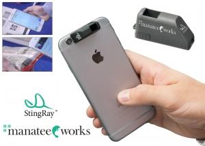 코그넥스가 스마트폰에 부착이 가능한 특허 출원 중인 부착형 바코드 스캔 액세서리 StingRay를 출시한다 (사진제공: 코그넥스)