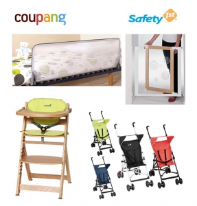(왼쪽 위부터 시계방향) 이지락 침대가드, 이지데코 안전문, 팀바 식탁의자, 펩스 유모차 (사진제공: 와이케이비앤씨)
