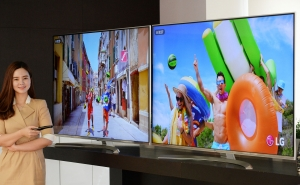 LG전자가 색재현력을 높여 생생한 화질을 구현하는 슈퍼 울트라HD TV 신제품을 국내 시장에 출시했다 (사진제공: LG전자)