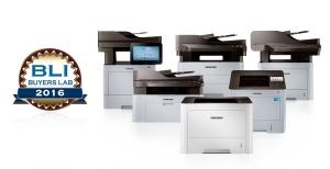 삼성전자 프린터와 복합기가 미국 사무기기 전문 평가기관 바이어스랩으로부터 3년 연속 올해의 흑백 프린터와 복합기 라인업상을 수상했다 (사진제공: 삼성전자)