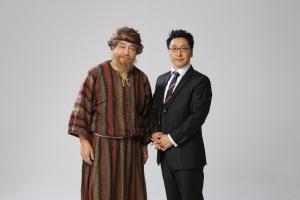 뮤지컬 갈릴리로 가요의 탤런트 한인수와 이민욱 감독이다 (사진제공: 뉴와인 엔터테인먼트)
