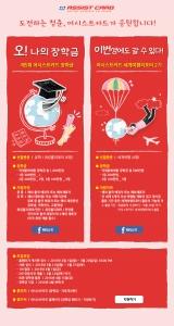 어시스트카드는 유학, 워킹홀리데이, 세계여행 부문에서 장학생을 선발한다. 서류 접수는 3월 20일까지 홈페이지에서 가능하다. (사진제공: 한국어시스트카드)