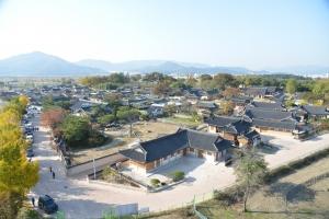 경주 교촌한옥마을 전경 (사진제공: 경주시청)