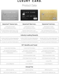 럭셔리카드, 특별한 혜택의 최신 금속카드 3종 출시∙∙∙마스터카드 발급 지원 (사진제공: Luxury Card)