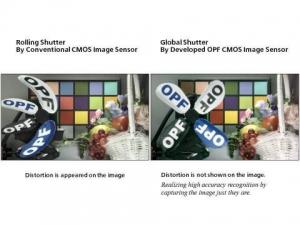 서로 다른 셔터 모드를 사용하여 찍은 프로펠러 회전 이미지 (사진제공: Panasonic Corporation)