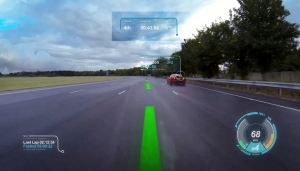 재규어 랜드로바 Virtual Windscreen (출처,카어드바이스) (사진제공: 산업교육연구소)