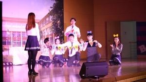 지난해 송탄제일고등학교에서 실시된 바 있는 뮤지컬 성교육 장면이다 (사진제공: 유한킴벌리)