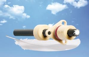 무게 절감을 위한 최상의 조합 : 급유와 유지보수를 필요로 하지 않는 트리보 폴리머 소재의 너트와 아노다이징 알루미늄 리드 스크류의 결합 (사진제공: 한국이구스)