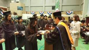 호원대학교 졸업식 성적우수자 수상 모습 (사진제공: 호원대학교)