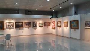 인천 미추홀 도서관의 전시장 (사진제공: 플러스아트콜렉션)