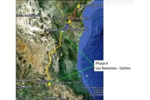 멕시코 로스라모네스 파이프라인 2단계 공사 지도(사진 출처: 페멕스) (사진제공: 한국에머슨프로세스매니지먼트)