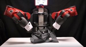 가사(셔츠를 접는)일을 하고 있는 Rethink Robotics사의 휴모노이드 baxter(이미지 출처 DARPA) (사진제공: 산업교육연구소)