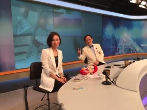 매일경제TV 건강한 의사 수요스페셜에서 진행중인 정유미 원장의 모습 (사진제공: 매직키스치과)